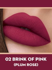 02 Brink Of Pink (Plum Rose) Of Sugar Smudge Me Not Liquid Lipstick