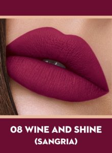08 Wine And Shine (Sangria) Of Sugar Smudge Me Not Liquid Lipstick