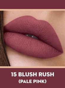 15 Blush Rush (Pale Pink) Of Sugar Smudge Me Not Liquid Lipstick
