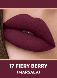 17 Fiery Berry (Marsala) Of Sugar Smudge Me Not Liquid Lipstick