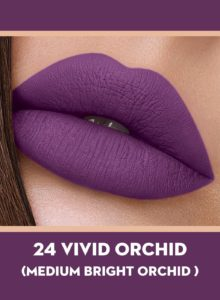 24 Vivid Orchid (Bright Orchid) Of Sugar Smudge Me Not Liquid Lipstick