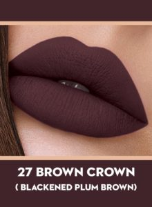 27 Brown Crown (Plum Brown) Of Sugar Smudge Me Not Liquid Lipstick