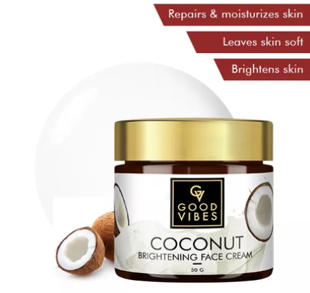 Claims Of Good Vibes Coconut Brightening Face Cream