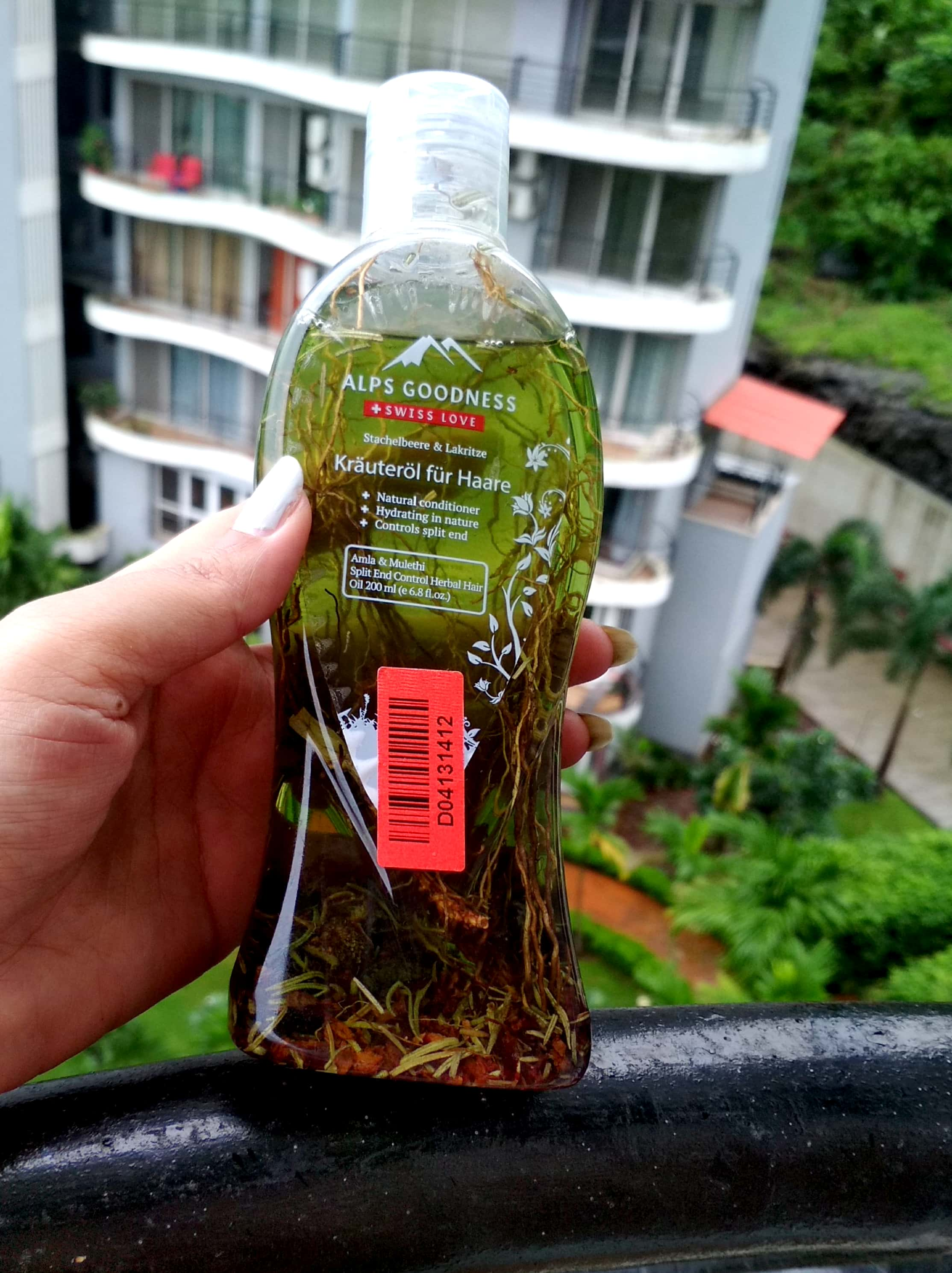 Appearance Of Alps Goodness Herbal Hair Oil