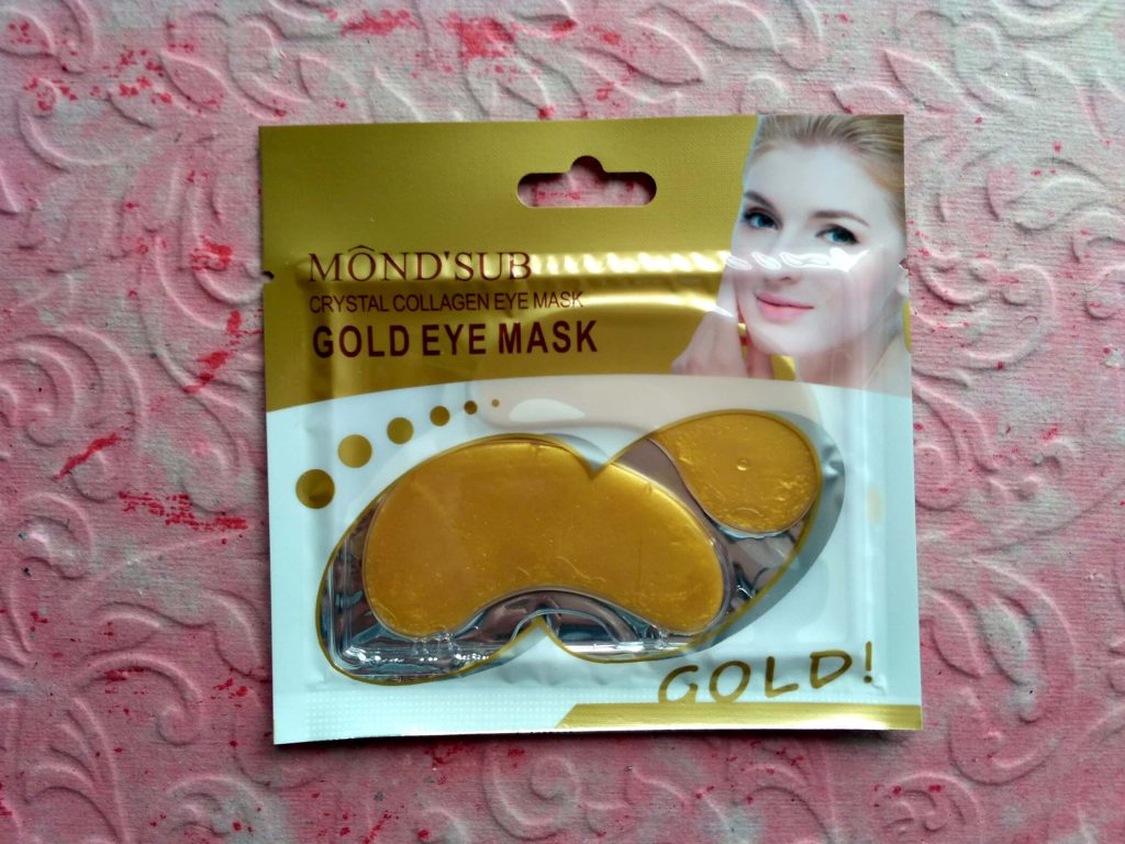 Mond'Sub Gold Eye Mask In Glamego Box August 2018