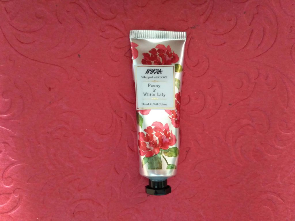 Packaging Of Nykaa Whipped With Love Hand & Nail Creme - Peony & White Lily