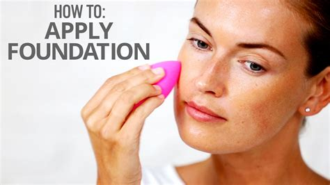 How To Apply Foundation With A Sponge