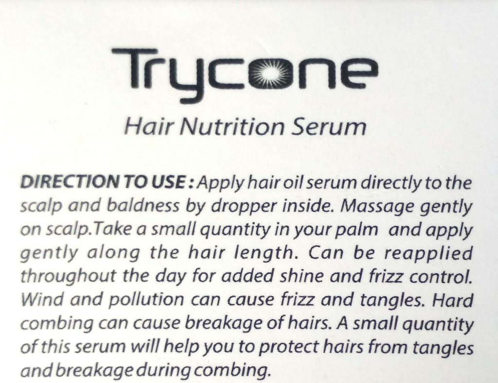 Usage Directions Of Serum
