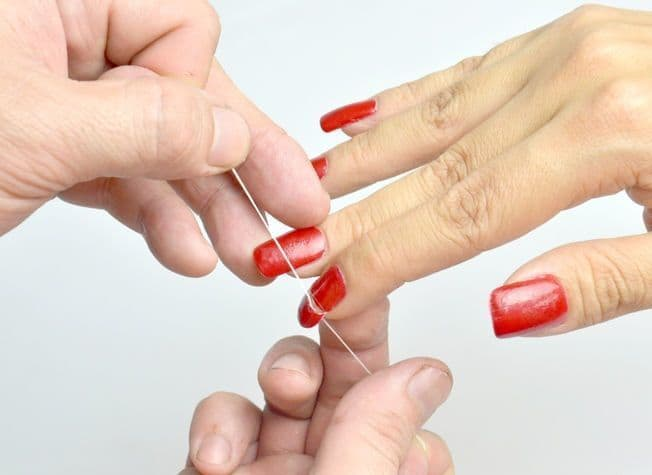 How To Take Off Acrylic Nails Using Dental Floss