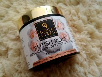 Good Vibes British Rose Body Butter