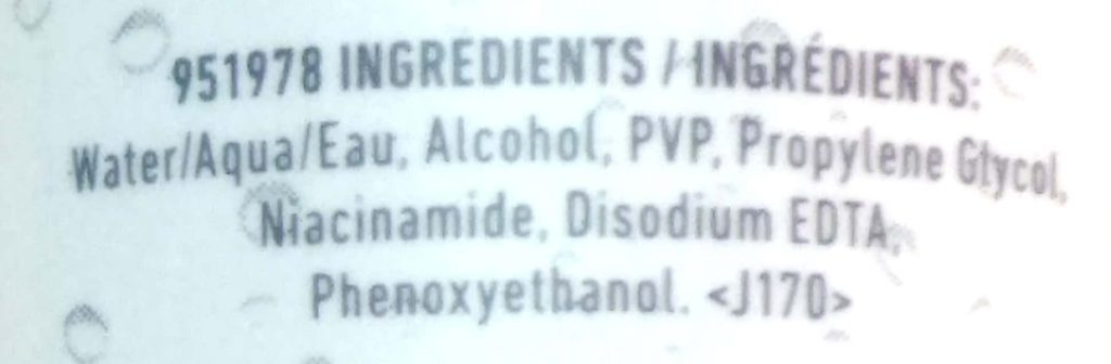 Ingredients Of NYX Dewy Finish Makeup Setting Spray