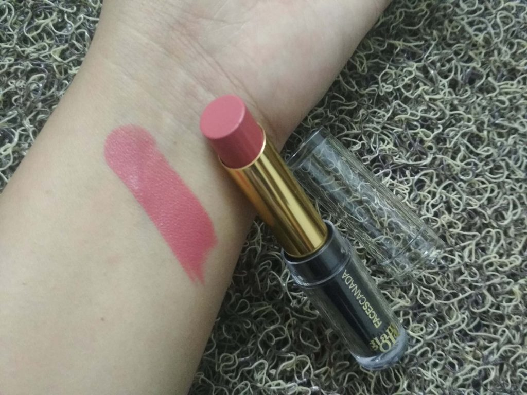 Swatch Of Faces Glam On Velvet Matte Lipstick - Cotton Candy Pink 20