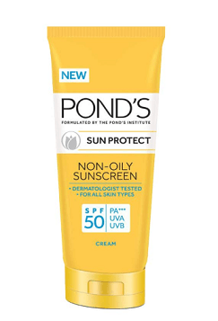 Ponds Sun Protect Non-Oily Sunscreen SPF 50 - One Of Must Have Beauty Products During Monsoon Season