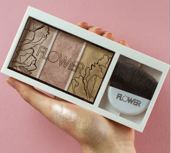 One Of The Best And Must Have Drew Barrymore Flower Beauty Products - Shimmer & Strobe Highlighting Palette - Champagne Shimmer