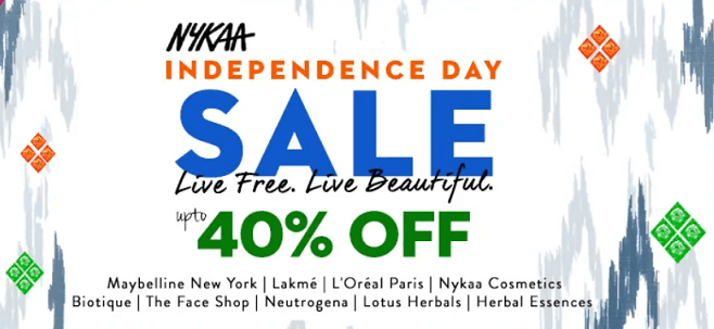 Independence Day Sale On Nykaa – 2019