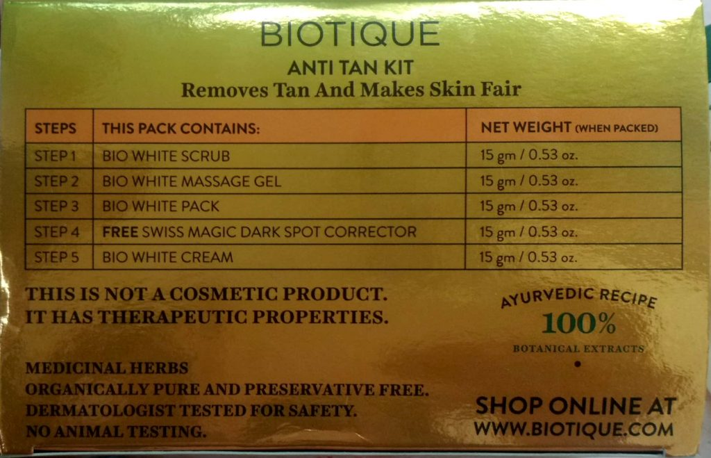 Products In Facial Kit