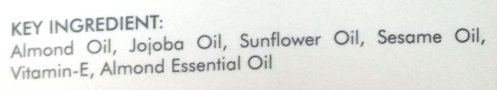 Key Ingredients Of Good Vibes Almond Nail & Cuticle Oil